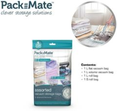 Transparante Packmate Vacuum opbergzakken 4 delige reis set Travel bags - reiszakken - Space saver vacuum bag