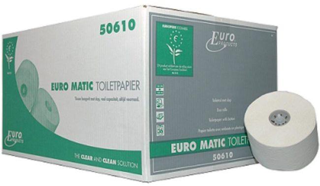 Afbeelding van MTS Euro Products Europroducts Doprol Ecolabel en FSC toiletpapier 36 rollen per doos hoog wit cellulose