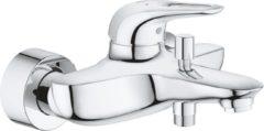Grohe Eurostyle New badkraan met omstel met koppelingen met open greep hart-op-hart afstand=15cm chroom 33591003