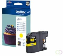 Brother Ink Cartridge Lc-123Y Yellow 600 Pages