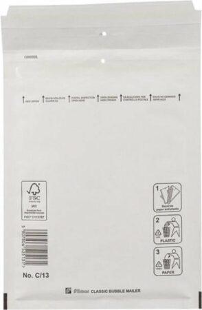 Afbeelding van Witte Verpa 20 stuks - Luchtkussen enveloppen C (Bubbeltjes envelop C/13) 150 x 215 mm