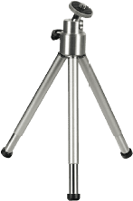 Hama Mini Tripod with Ball Tilt Head, silver 2-sectionpoot/poten Zilver tripod