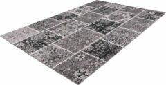 Ariya Patchwork design vloerkleed Grijs - 80x150CM