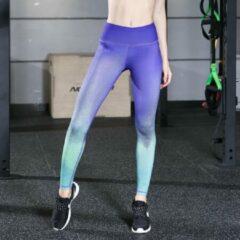 Paarse Semmin Sports Yoga Collection Yoga legging in overlopende kleuren - Medium - Semmin yoga Collection