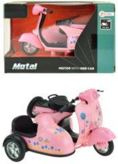 Toitoys Toi-toys Metal Pull Back Motor Met Zijspan Roze 11,5 Cm