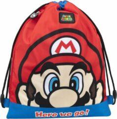 Super Mario Gymbag - 42 x 34 cm - Rood