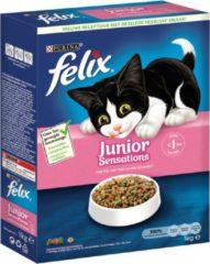 Purina FELIX Junior Sensations - met Kip, Granen & Melk - kattenvoer - 1 kg