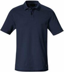Poloshirt van langstapelig katoen met korte mouwen Van Louis Sayn blauw