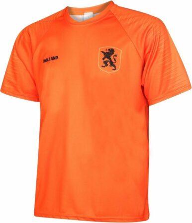 Afbeelding van Holland Nederlands Elftal Voetbalshirt Thuis Blanco EK 2021 Oranje Kids Unisex - Maat 128