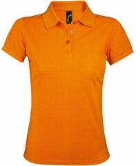 Oranje Polo Shirt Korte Mouw Sols PRIME ELEGANT WOMEN