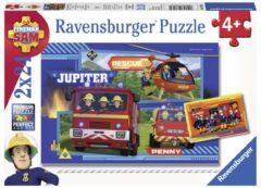 Ravensburger puzzel Waterloop met Brandweerman Sam - Twee puzzels - 24 stukjes - kinderpuzzel