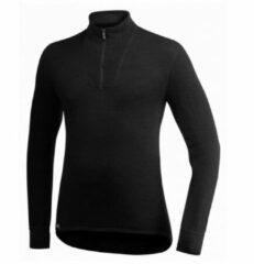Woolpower - Zip Turtleneck 200 - Merino-ondergoed maat XXS, zwart