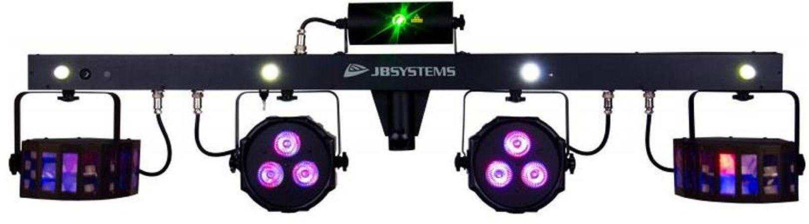 Afbeelding van Zwarte JB Systems JB-Systems PARTY BAR - 4-in-1 lichteffect voor mobiele DJs