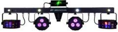 Zwarte JB Systems JB-Systems PARTY BAR - 4-in-1 lichteffect voor mobiele DJs