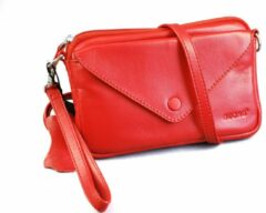 Buono Leather Maat null Dames Crossbodytas Rood