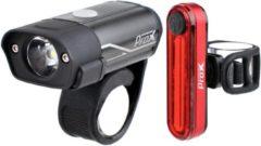 Rode Fietsverlichtingsset USB Oplaadbaar - LED fietslampen Prox 400/40Lumen