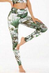 Blauwe Ultimate Fit sportlegging in tropische bloemen/blad print design -M