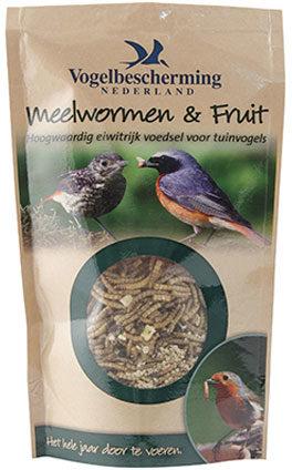 Afbeelding van Vogelbescherming nederland meelwormen & fruit in pouche 100g