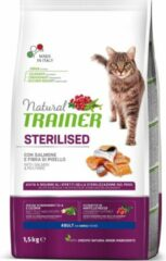 Trainer Natural Trainer - Salmon (sterilised) - Kattenvoer - 1,5 kg - Hoog Vleesgehalte
