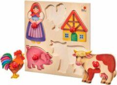 Selecta Spielzeug Vormenpuzzel Boerderij Junior 20 X 20 Cm Hout 6-delig