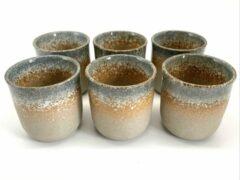 Merkloos / Sans marque Koffiekopjes - koffiemok - koffiebeker - set van 6 kopjes - 150ML - keramiek - hip en trendy