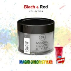 Witte Black&Red Collection Magic Color Styler Haar Wax 100ml - White Snow