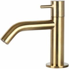 Differnz Mix toiletkraan geborsteld messing goud gebogen fonteinkraan