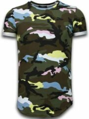Roze Tony Backer Known Camouflage T-shirt - Long Fit Shirt Army - Pink Known Camouflage T-shirt - Long Fit Shirt Army - Bordeaux Heren T-shirt Maat M