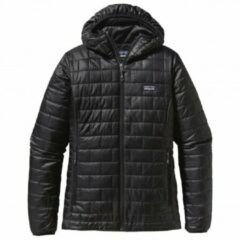 Zwarte Patagonia - Women´s Nano Puff Hoody - Synthetisch jack maat XL zwart