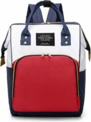 LTS / Living Traveling Share / Luierrugzak / Luiertas / Wit Rood Blauw / Mommy Bag / Babyshower / Cadeau / Baby