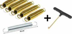 Rainbow Trampolines Set Trampoline Veren Gold 160 mm - 6 stuks per set - inclusief verenspanner