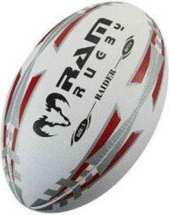 RAM Rugtby Match & Pro Training rugbyballen bundel - Met ballentas - 15 stuks Balmaat 4 Rood