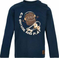 Minymo - jongens shirt - lange mouwen - blauw