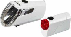 Trelock LS 360 I-GO ECO+LS 720 REEGO Fietsverlichting sets wit