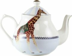 Yvonne Ellen London - Carnival Animal Theepot 1,6 Liter - Giraffe Print - Bone China Porselein - In Fraaie Geschenkdoos