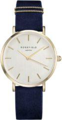 Rosefield West Village Dames Horloge - Goud Blauw Ø33mm - WBUG-W70