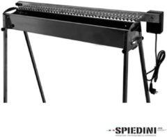 Roestvrijstalen Spiedini | automatisch roterende houtskool barbecue voor spiesjes of saté | Auto-BBQ 40 | RVS BBQ van Italiaans design
