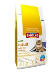 Smolke Adult Vis en Rijst- Kat - Volledig droogvoer - kattenvoer 4 kg