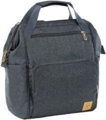 Grijze Lässig Lassig Glam Label Plecak dla mam z akcesoriami Goldie Backpack Anthracite