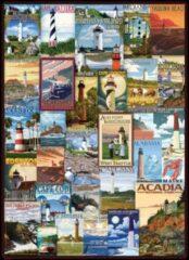 Eurogra Puzzel 1000 stukjes - Lighthouses vintage posters