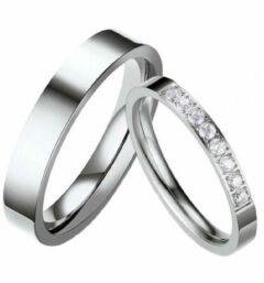 Zoëies® RVS ring voor haar zilverkleurig 18 mm