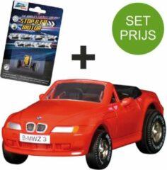 Darda Racebaan auto BMW Z3 Rood auto + extra stop en go motor