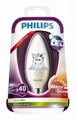 Afbeelding van Philips Lighting LED-lamp Energielabel: A+ (A++ - E) E14 Kaars 6 W = 40 W Warmwit (Ã x l) 38 mm x 113 mm Dimbaar (warmglow) 1 stuks