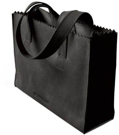 Afbeelding van Donkergrijze MYOMY My Paper Bag Handbag Zip - Handtas - Hunter off black