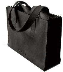 Donkergrijze MYOMY My Paper Bag Handbag Zip - Handtas - Hunter off black