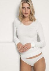 Hessnatur Damen Langarm-Shirt aus Bio-Baumwolle – weiß – Größe 46