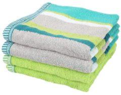 SEASTAR Handtuch, 4er-Set, grün, 50x100cm