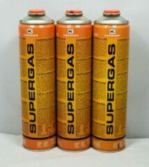 """Oranje 3 X Kemper 600ml Supergas gaspatroon 7/16"""""""