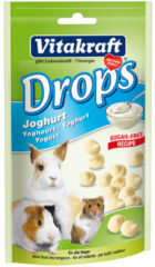 Vitakraft Dwergkonijndrops - Yoghurt - 75 gr - Konijnensnoepjes