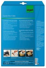 Inkjetfolie Sigel A4 Transfer blanco 6 stuks voor donkere kleding/textiel +6 gratis